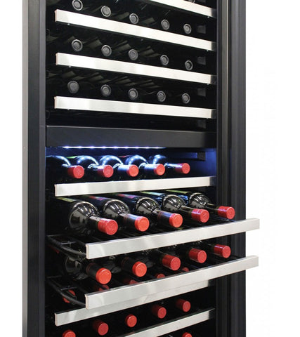 155-Bottle Dual Zone Touch Screen Wine Cooler