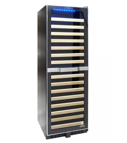 155-Bottle Dual Zone Wine Cooler with Stainless Trim and Touch Screen Control