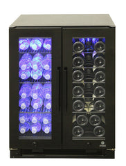 Black Full Glass Wine & Beverage Cooler
