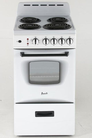 "20"" Freestanding Electric Range White"