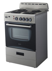 "24"" Electric Range Stainless"