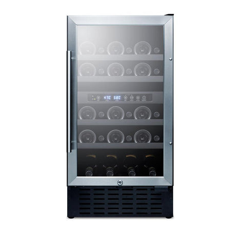 "18"" Wide 28-Bottle Dual Zone ADA Height Wine Cooler"