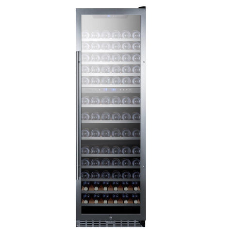 133-Bottle Triple Zone Stainless Steel Wine Cellar
