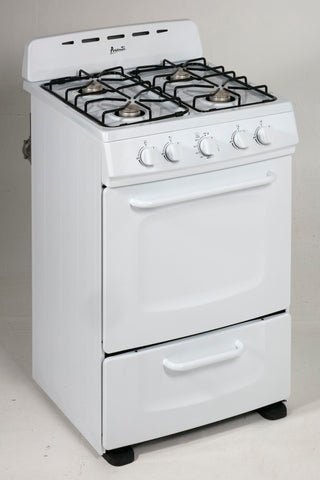 "24"" Gas Range with 4 Open Burners and Broiler Oven"
