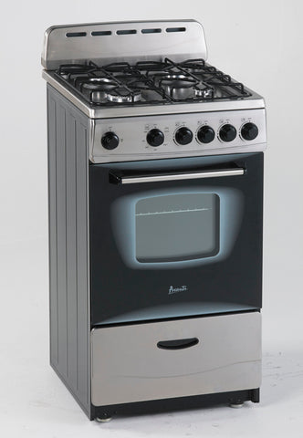 "20"" Gas Range Stainless Steel"