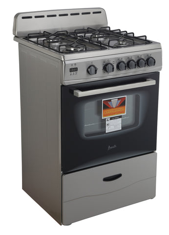 "24"" Gas Range Stainless Steel"