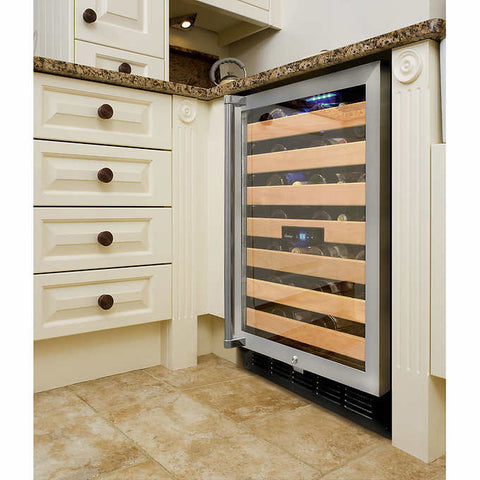 50 Bottle Dual-Zone Wine Cooler
