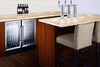 "Image of 18"" Wide Built-in Glass Door Beverage Center"
