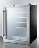 Image of 22-Bottle Single Zone Glass Door Stainless Steel Wine Refrigerator