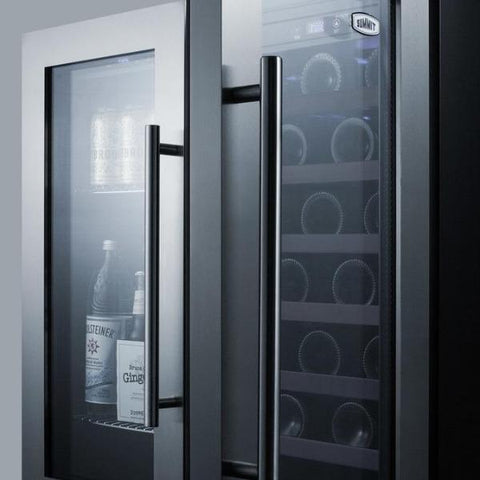 33-Bottle Dual Zone Built-In Combo Wine and Beverage Cooler