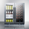 Image of 33-Bottle Dual Zone Built-In Combo Wine and Beverage Cooler