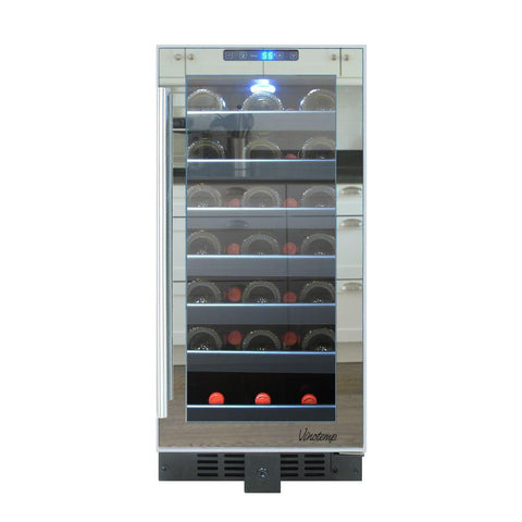 33-Bottle Mirrored Touch Screen Wine Cooler