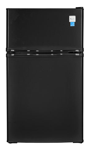 "19"" 3.1 cu. ft. Black Compact Top Freezer Refrigerator"