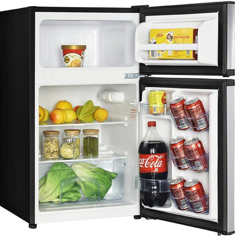 "19"" 3.1 cu. ft. Stainless Steel Compact Top Freezer Refrigerator"