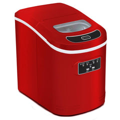 Compact Portable Ice Maker 27 lb capacity - Red