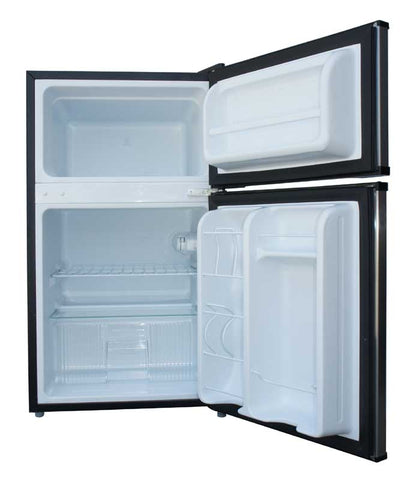 3.1 cu.ft. Double Door Refrigerator with Energy Star - Stainless Steel