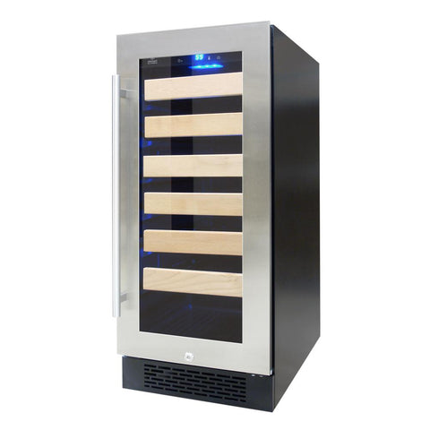 27 bottle wine cooler, with front exhaust