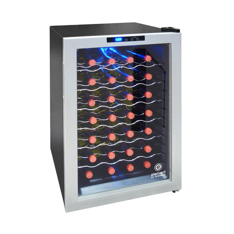 28-Bottle Wine Cooler Silver Compressor Unit