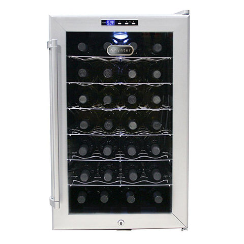 SNO 28 Bottles Wine Cooler - Platinum with lock
