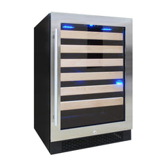 54 bottle wine cooler, with front exhaust