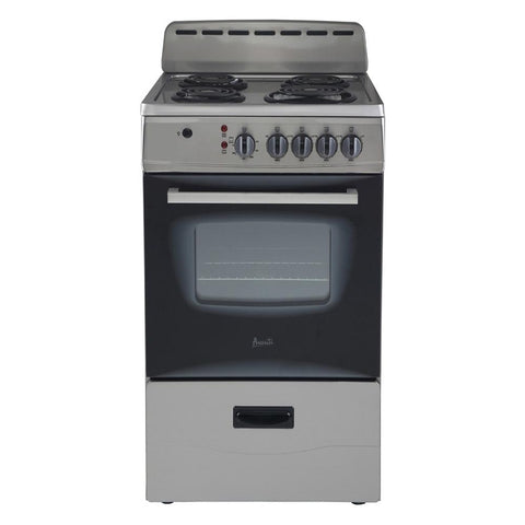 "20"" Freestanding Electric Range Stainless"