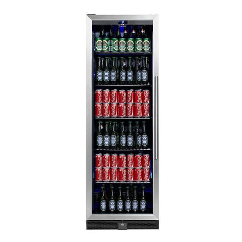 Tall Upright Beverage Cooler Beer Fridge with Glass Door