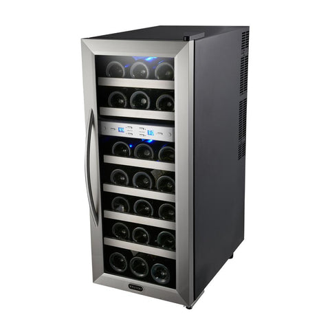 21 Bottle Dual Zone Thermoelectric Wine Cooler