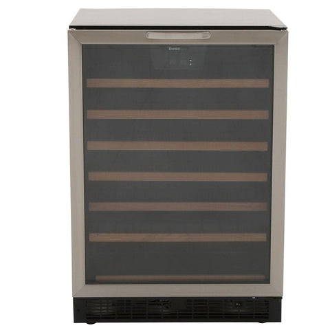 50-Bottle Designer Built-In Wine Cooler Stainless Steel