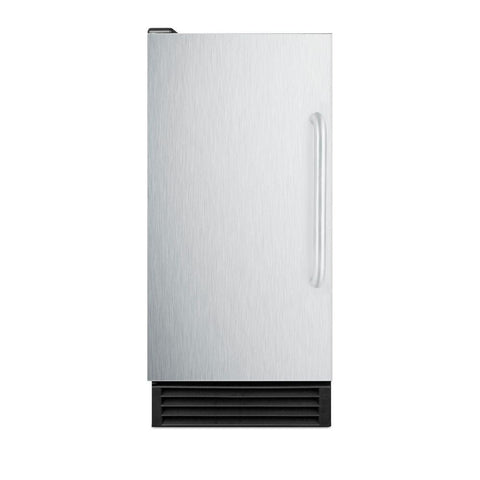 "Built-in 15"" Stainless Steel Icemaker"