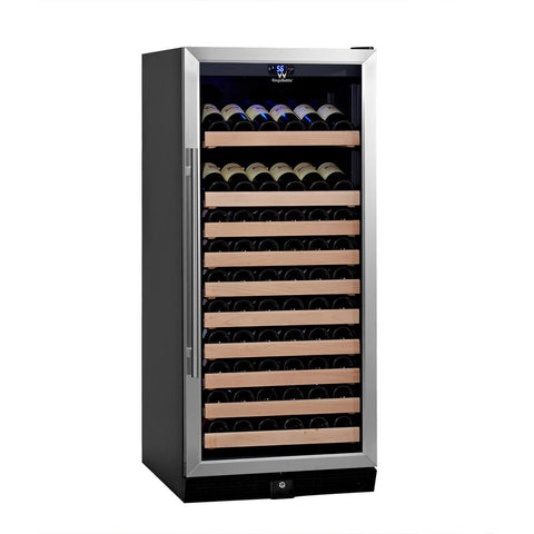 100-Bottle Single Zone Stainless Steel Wine Refrigerator