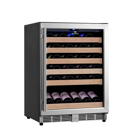 46-Bottle Single Zone Stainless Steel Wine Refrigerator
