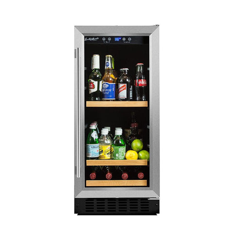 "90 Can 15"" Convertible Beverage Refrigerator"