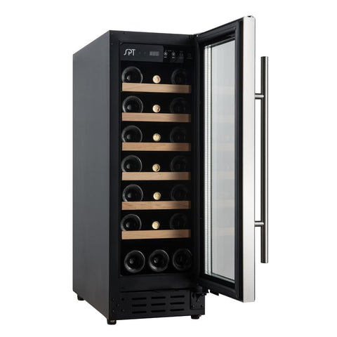 21-Bottle Wine Cooler With Wooden Shelf