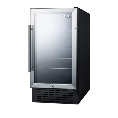 "18"" Wide Built-in Ada Compliant Glass Door Beverage Center"