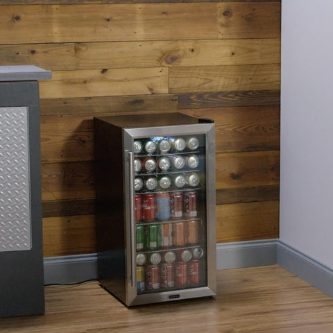 Beverage Refrigerator - Stainless Steel with internal fan
