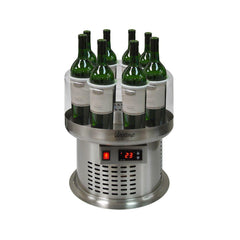 8-Bottle Round Pedestal Open Wine Cooler