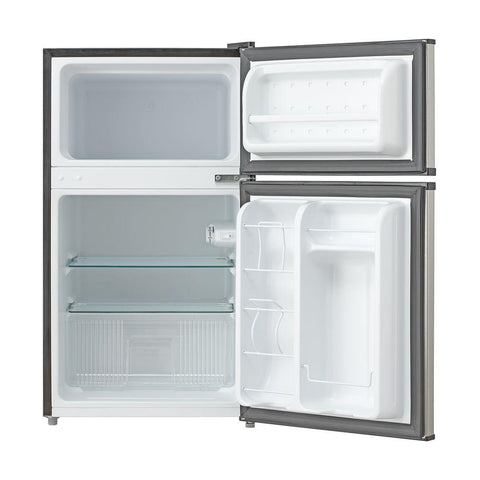 3.4 cu.ft. Stainless Steel Compact Refrigerator/Freezer
