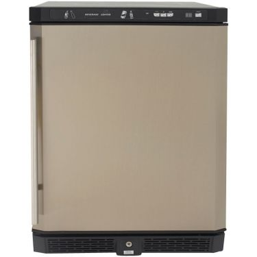 "Built-In Compact Refrigerator - 24"" - 5.1 cu ft - Stainless Steel"