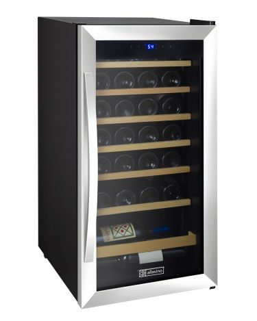 Cascina Series 28 Bottle Single Zone Stainless Steel Wine Refrigerator
