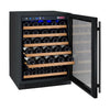 Image of 56-Bottle FlexCount Series Single Zone Wine Refrigerator Black