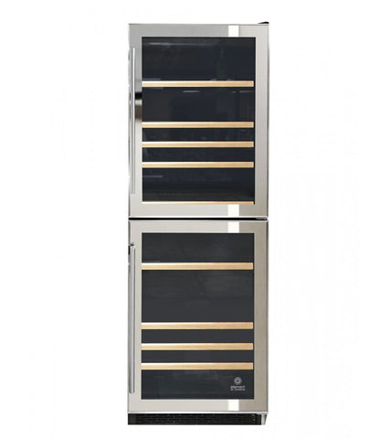 191-Bottle Dual-Zone Mirrored Wine Cooler
