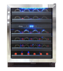 46-Bottle Dual Zone Wine Cooler