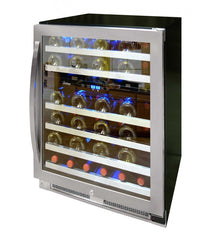 46-Bottle Dual-Zone Connoisseur Series Wine Cooler