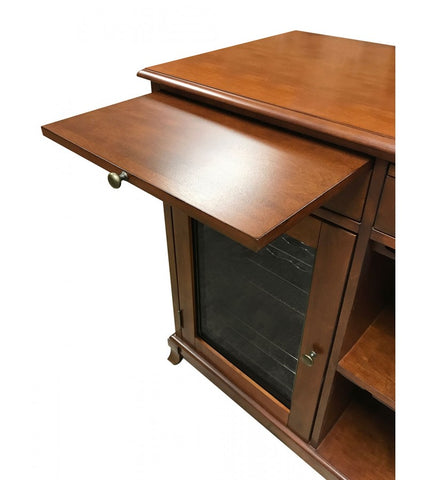 Cava 38-Bottle Wine Storage Credenza In Red Mahogany