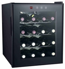 16-Bottle Thermoelectric Countertop Wine Cooler with Heating