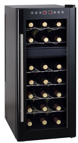 21-Bottle Dual Zone Thermoelectric Wine Cooler with Heating