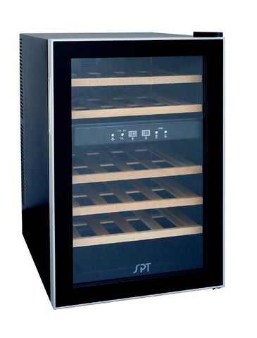 24-Bottle Dual Zone Thermoelectric Wine Cooler w/Wooden Shelves