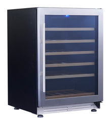 51-Bottle Single Zone Stainless Steel Undercounter Wine Chiller