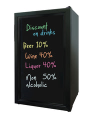 Beverage Cooler with Writing Board Door