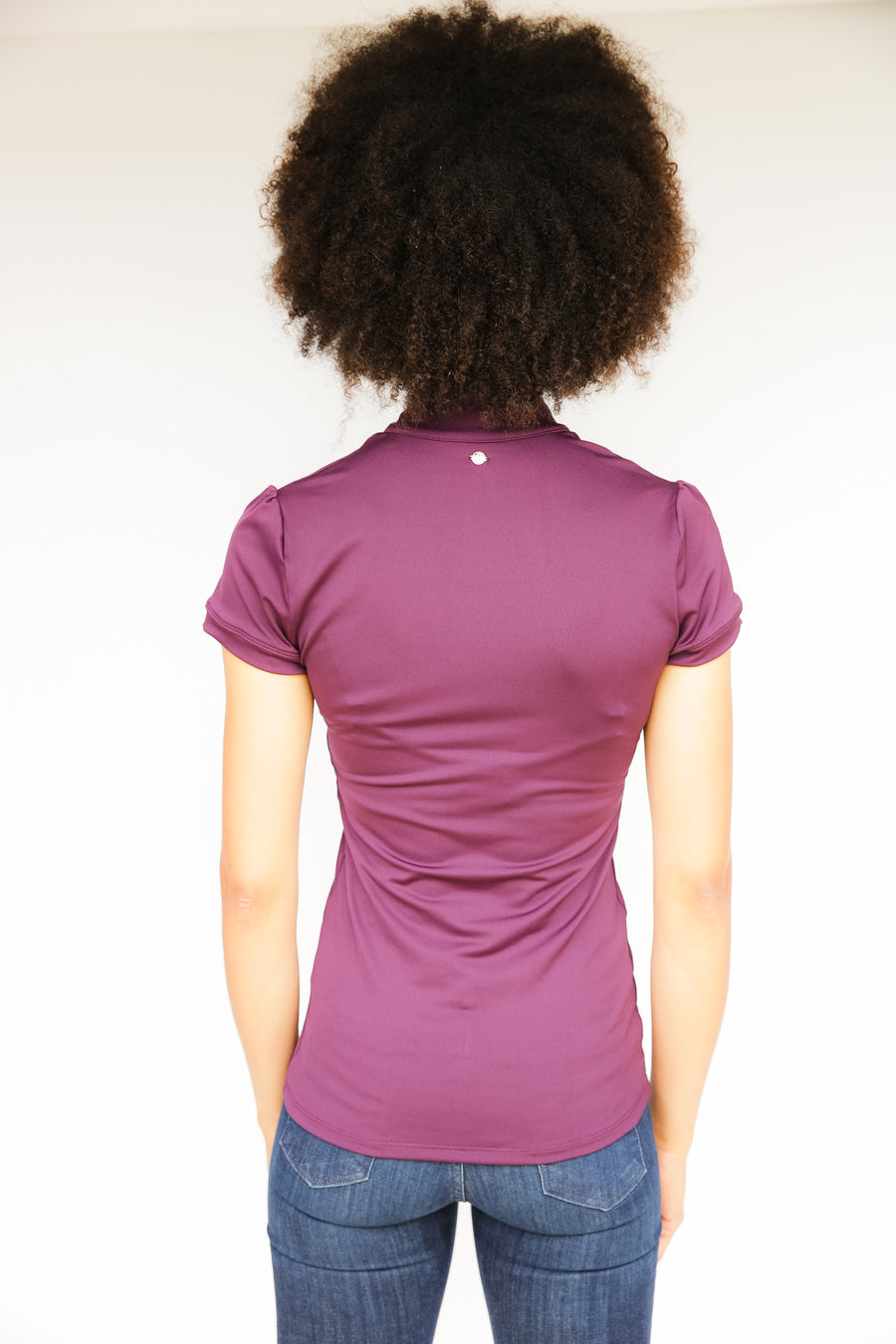 Short Sleeve Women's Mandarin Collar Performance Shirt